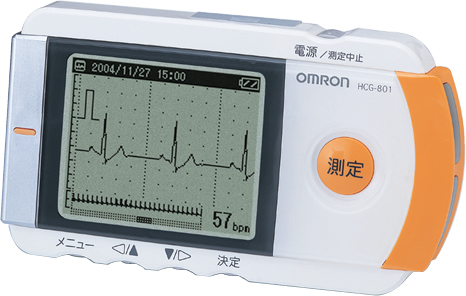オムロン製 携帯型心電計 HCG-801
